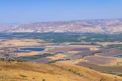 De vallei van Jordanië Stock Fotografie