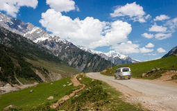 De vallei van Kashmir, reis en toerisme, India Royalty-vrije Stock Foto's