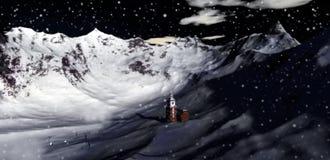 De vallei van Kerstmis toneel Royalty-vrije Stock Fotografie