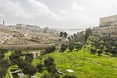 De Vallei van Kidron jeruzalem Stock Afbeeldingen