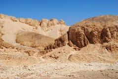 De Vallei van de Koningen, Egypte stock foto's