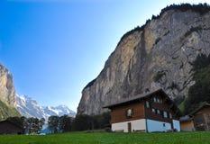 De Vallei van Lauterbrunnen Stock Afbeelding