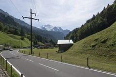 De Vallei van Lauterbrunnen in Zwitserland Stock Foto's