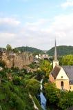 De vallei van Luxemburg Royalty-vrije Stock Foto's