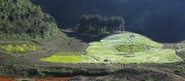De Vallei van Mocchau, Vietnam stock foto's