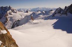 De vallei van Mont Blanc Stock Foto's