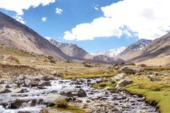 De vallei van Nubra Stock Afbeelding