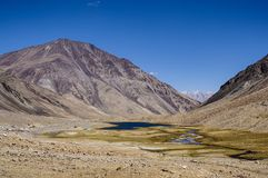 De vallei van Nubra Stock Foto's