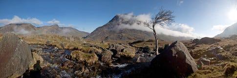 De vallei van Ogwen Royalty-vrije Stock Foto's