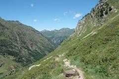 De vallei van Orlu in de Pyreneeën stock foto's