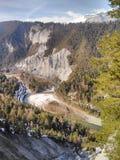 De vallei van de rivier royalty-vrije stock foto
