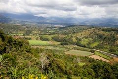 De vallei van San Isidro del General in Costa Rica Stock Afbeelding
