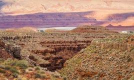 De vallei van San Juan, de V.S. Hwy 163 - Utah Royalty-vrije Stock Afbeeldingen