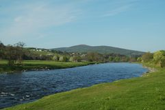 De vallei van Spey in de lente Stock Afbeeldingen