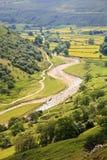 De Vallei van Swale van de rivier Stock Foto's