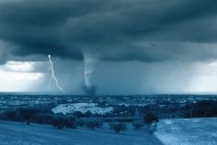 De vallei van tornado's Royalty-vrije Stock Fotografie