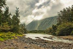 De vallei van Waipio in Hawaï Stock Foto