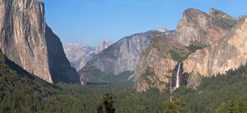 De Vallei van Yosemite. Stock Foto's