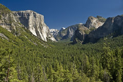 De Vallei van Yosemite in Californië Stock Afbeelding