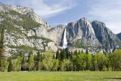 De valleihelling van Yosemite stock afbeeldingen