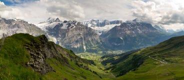 De valleipanorama van Grindelwald Royalty-vrije Stock Fotografie