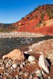De valleirivier van Ourika Royalty-vrije Stock Afbeeldingen