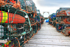 De vallen en de boeien van de zeekreeft Royalty-vrije Stock Foto's