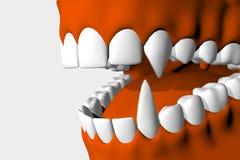 De vampier van de mond. Stock Foto