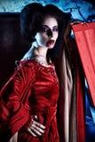De vampier van de vrouw Stock Afbeelding