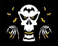 De vampieraanval van de monsterzombie Stock Afbeelding