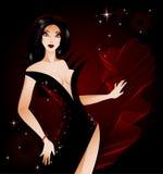 De vampierdame van Halloween royalty-vrije illustratie
