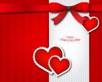 De van de Valentijnskaart kaart van de s- dagUitnodiging Royalty-vrije Stock Foto's