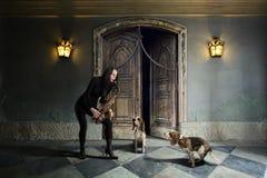 De van een hond blauw. Royalty-vrije Stock Foto