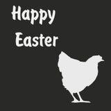De van letters voorziende illustratie van Pasen Pasen-de kaarten met chiken Stock Foto