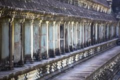 De van Oost- angkorwat siem reap cambodia south reisvenster en licht van Azië stock afbeeldingen