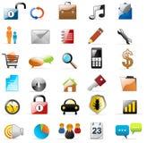 De van verschillende media pictogrammen van het Web en Stock Foto