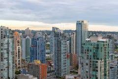 De Vancouver condominios céntricos A.C. Imágenes de archivo libres de regalías