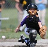 De vanger ontbrekende bal van het honkbal Stock Foto's