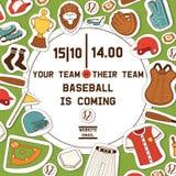 De vangerssportkleding en beslagen van het honkbal vectorpatroon baseballbat of bal voor de illustratie van de de concurrentieach vector illustratie