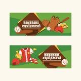 De vangerssportkleding en beslagen van het honkbal vectorpatroon baseballbat of bal voor de illustratie van de de concurrentieach royalty-vrije illustratie