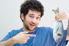 De vangst van vissen Royalty-vrije Stock Foto
