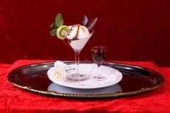 De vanille van de kiwi op rood Royalty-vrije Stock Fotografie