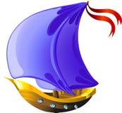 De varende boot van het beeldverhaal Royalty-vrije Stock Foto's