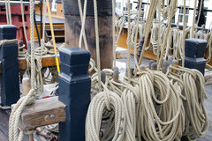 De varende Lijnen van de Kabel van het Schip Stock Foto's