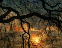 De Variatie van de Zonsondergang van de impressionist Royalty-vrije Stock Fotografie