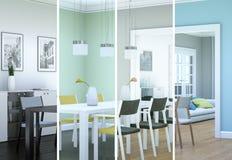 De variaties van de Splittedkleur van een modern zolder binnenlands ontwerp Royalty-vrije Stock Afbeelding