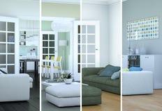 De variaties van de Splittedkleur van een modern zolder binnenlands ontwerp Stock Foto