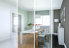 De variaties van de Splittedkleur van een modern zolder binnenlands ontwerp Royalty-vrije Stock Foto