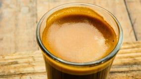 De varma skotten för bästa sikt för espresso Arkivfoto