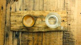 De varma skotten för bästa sikt för espresso Arkivbilder